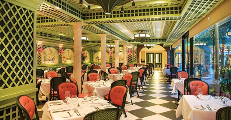 The restaurant39s biggest architectural change was made to the Chanteclair Room which sits parallel to and overlooking the courtyard patio