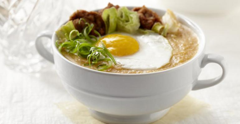 Potato Soup with Curried Pork Dumplings