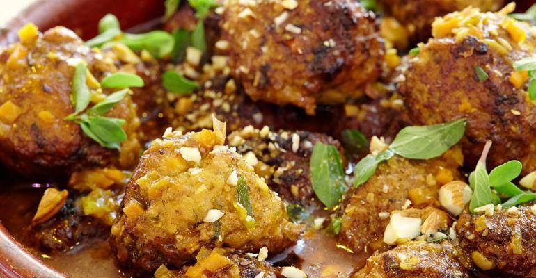 Chicken and Almond Albondigas