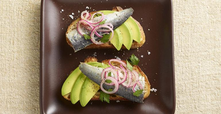 Sardine Toasts with Avocado
