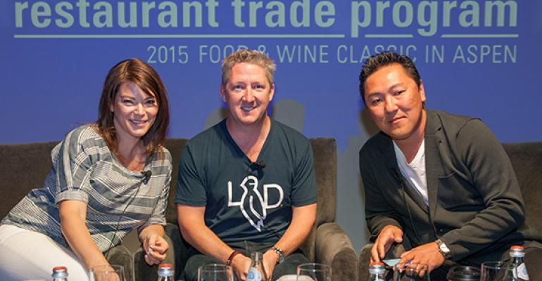 Gail Simmons Tim love and Sang Yoon explored financing and expansion options