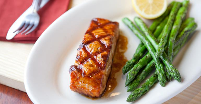 Atlantic salmon with Jim Beam brown sugar and soy sauce