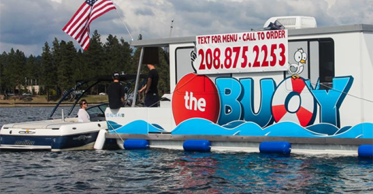 Floating food truck takes to the water