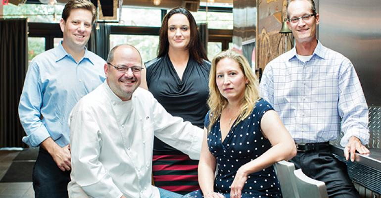 Jeff amp Barbara Black seated are supported by Mallory Buford left Jenn Larkin and Jon Linck