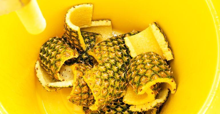 pineapple scraps