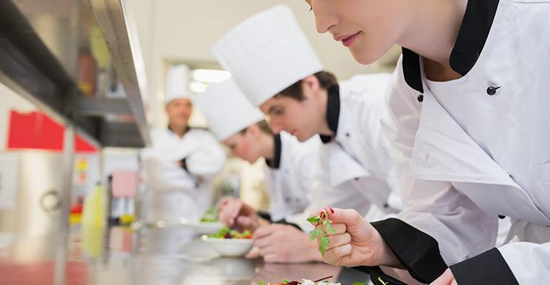 culinary school students