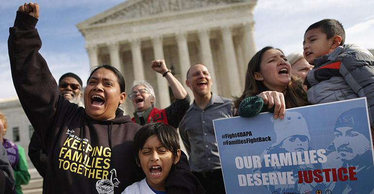 Earlier this year the Fair Immigration Reform Movement FIRM and CASA organized a prayer protest outside  the Supreme Court