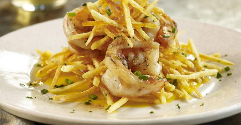 Shrimp Haystacks