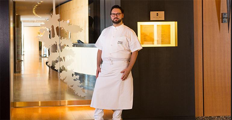 Simone Cantafio chef at world topranked classic restaurant Michael Bras Toya in Japan