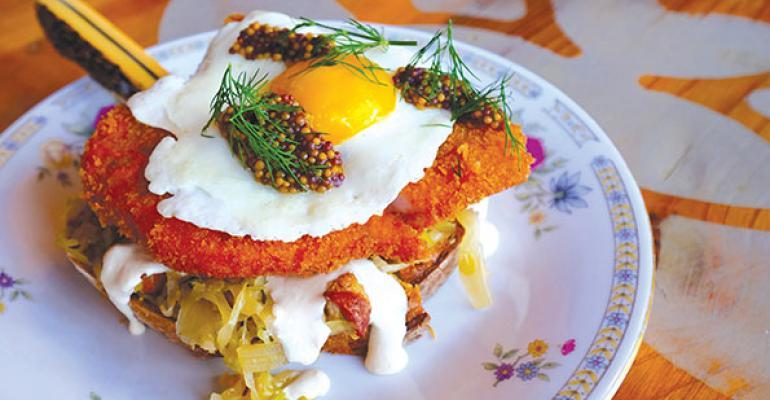 Bohemian Houses OpenFaced Pork Schnitzel Sandwich