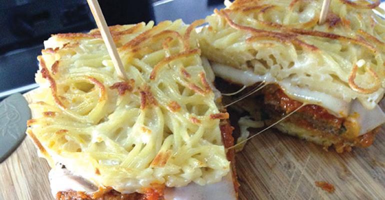 The Carving Boards Spaghetti  Meatballwich
