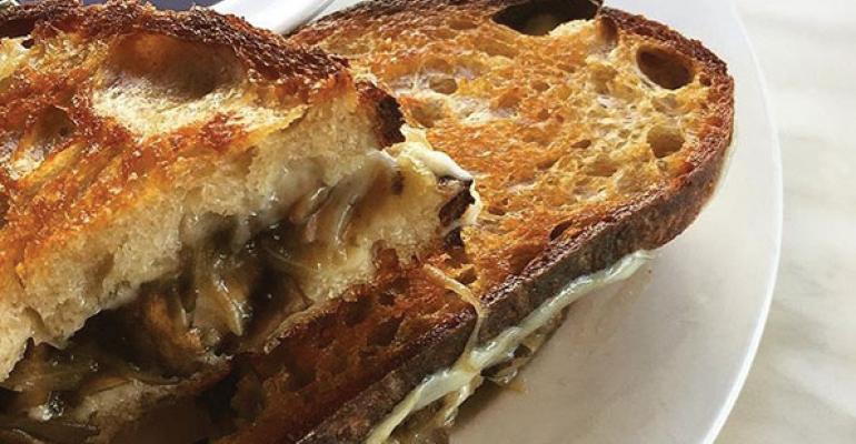 Bread  Butterflys Caramelized Mushroom  Onion Sandwich