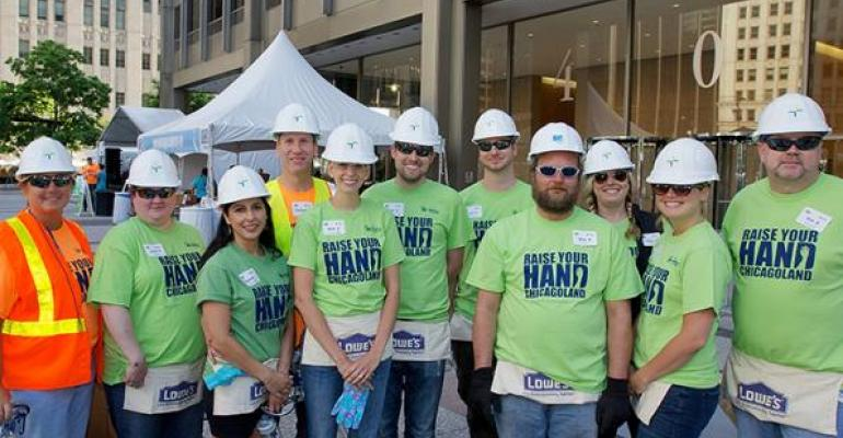 Habitat for Humanity and other charities provide a chance to show your commitment to the local market