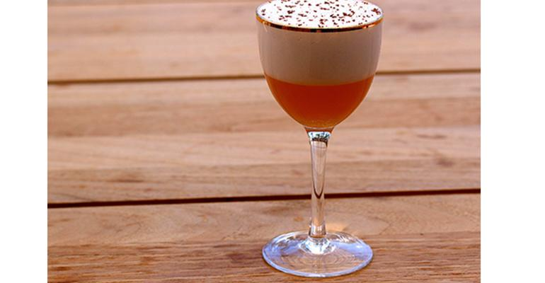 The Hotline Sling from Cafe Gratitude Newport Beach CA incorporates aquafaba for this velvety foam The bean product is not only veganfriendly but lets operators eschew the odor and bacteria problems that can accompany egg whites