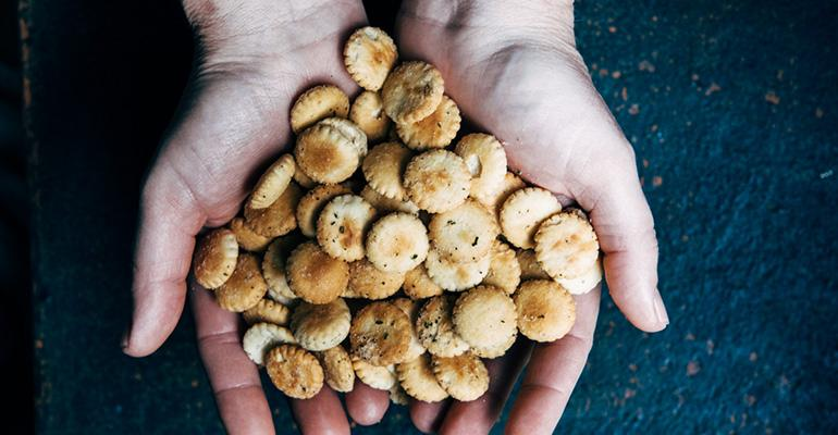 Cavan in New Orleans starts diners off with seasoned oyster crackers instead of bread