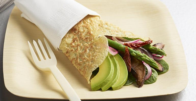 Veggie Lovers' Crêpes with Avocado