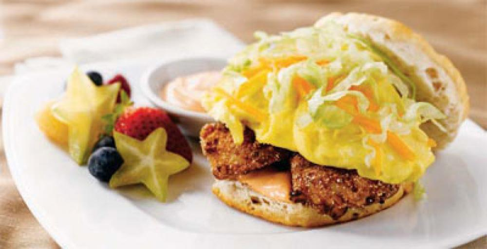 Bluegrass Egg Biscuit with Fresh Chicken Fingers