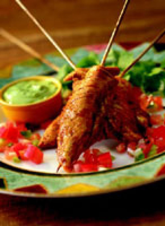 Guacamole Chicken Skewers