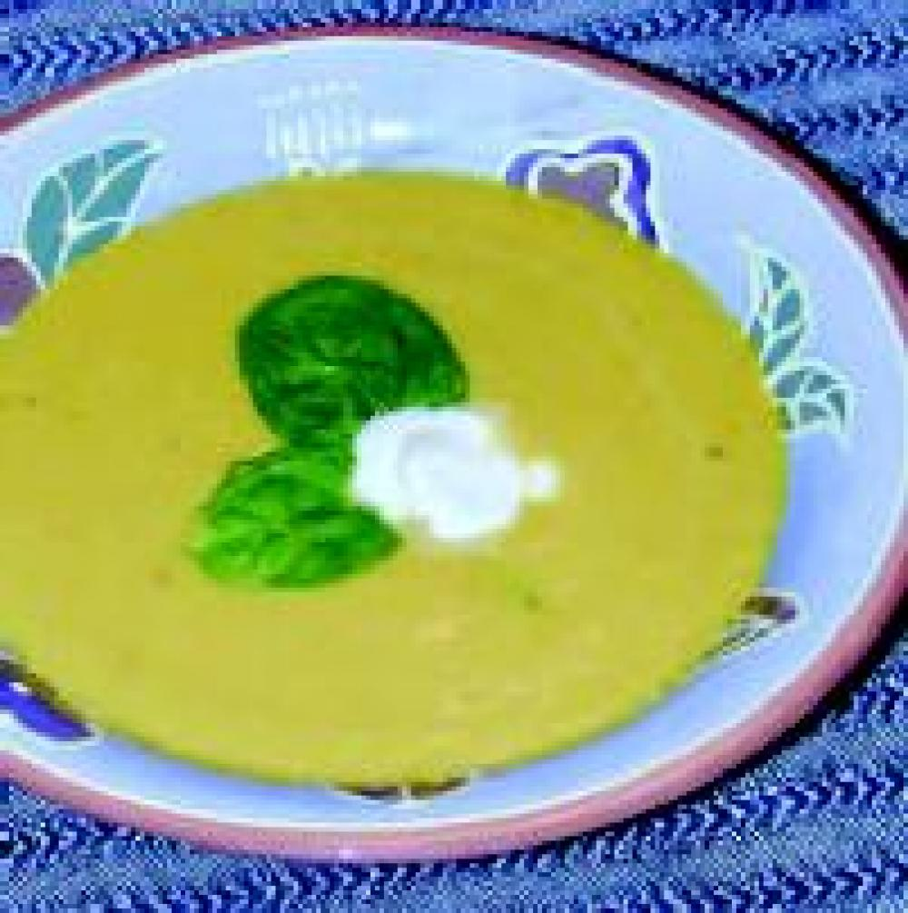 Roasted Yellow Pepper Peanut Soup