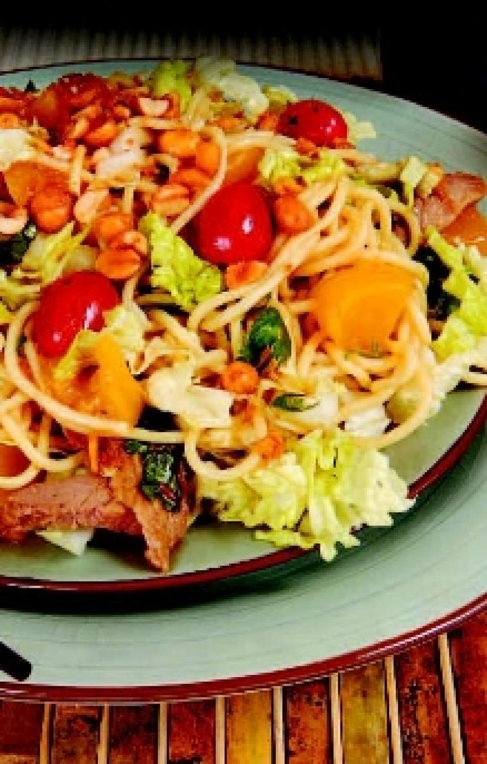 Thai Peach and Steak Salad