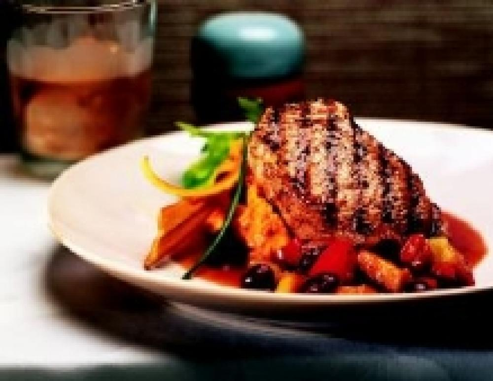 Pork Chops with Apple-Cranberry Sauce