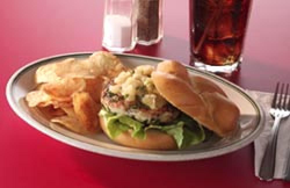Grilled Turkey Burger with Apple Chutney