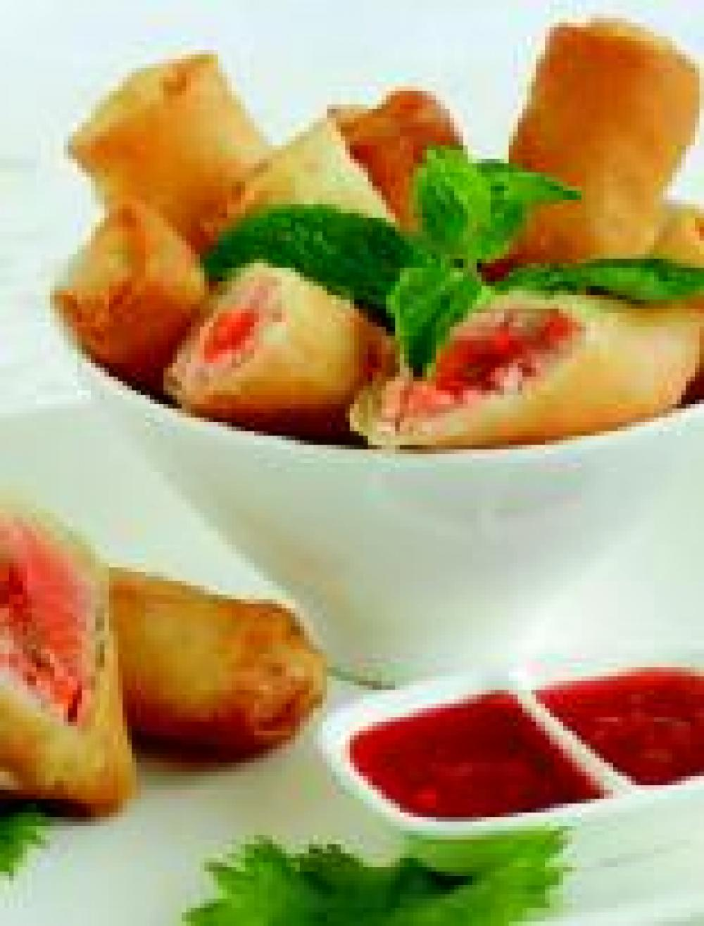 Sweet and Sour Salmon Rolls
