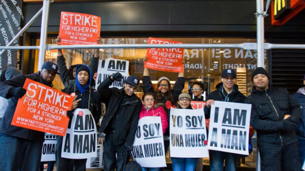 Strikes by lowpaid restaurant workers may have been effective in gaining support for their cause among patrons