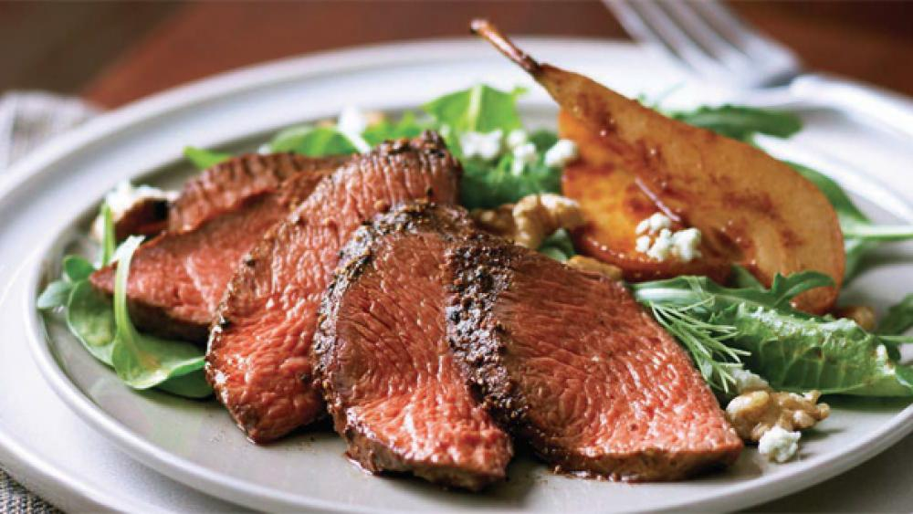 Grilled Steak and Pear Salad