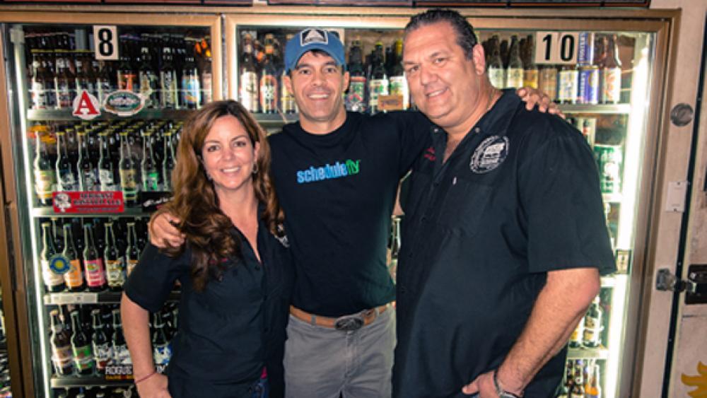 Lisa Siegel Wil Brawley and Julian Siegel at Riverside Market and Cafeacute in Ft Lauderdale FL