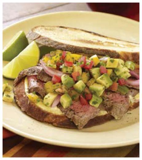 American Kobe Flank Steak Sandwich