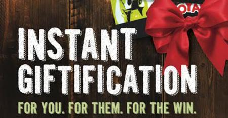 Mooyah Instant Gratification Promo card